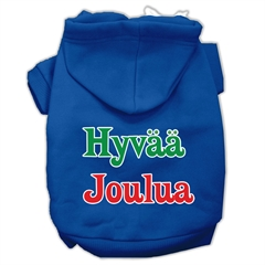 Mirage Pet Products Hyvaa Joulua Screen Print Pet Hoodies Blue L (14)