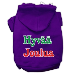 Mirage Pet Products Hyvaa Joulua Screen Print Pet Hoodies Purple XL (16)