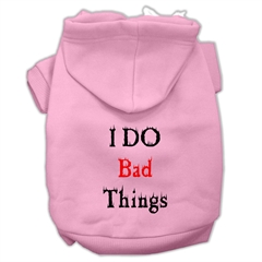 Mirage Pet Products I Do Bad Things Screen Print Pet Hoodies Light Pink XXL (18)