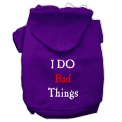 Mirage Pet Products I Do Bad Things Screen Print Pet Hoodies Purple Size XXL (18)