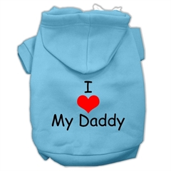 Mirage Pet Products I Love My Daddy Screen Print Pet Hoodies Baby Blue Size XXL (18)
