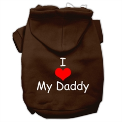 Mirage Pet Products I Love My Daddy Screen Print Pet Hoodies Brown Size XXL (18)