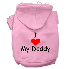 Mirage Pet Products I Love My Daddy Screen Print Pet Hoodies Pink Size XS (8)