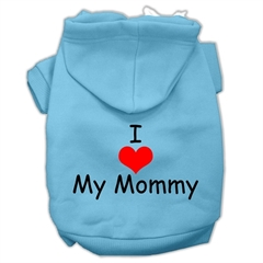 Mirage Pet Products I Love My Mommy Screen Print Pet Hoodies Baby Blue Size Lg (14)