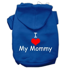 Mirage Pet Products I Love My Mommy Screen Print Pet Hoodies Blue Size Med (12)