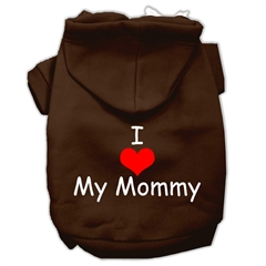 Mirage Pet Products I Love My Mommy Screen Print Pet Hoodies Brown Size XL (16)