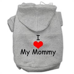 Mirage Pet Products I Love My Mommy Screen Print Pet Hoodies Grey Size Med (12)