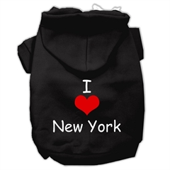 Mirage Pet Products I Love New York Screen Print Pet Hoodies Black Size XXL (18)