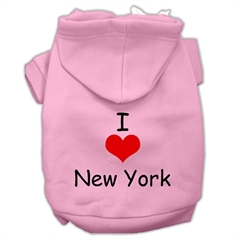 Mirage Pet Products I Love New York Screen Print Pet Hoodies Pink Size XXXL (20)