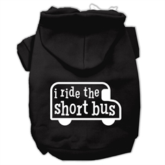Mirage Pet Products I ride the short bus Screen Print Pet Hoodies Black Size L (14)