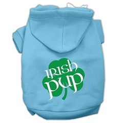 Mirage Pet Products Irish Pup Screen Print Pet Hoodies Baby Blue Size XL (16)