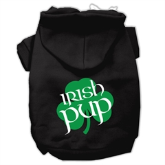Mirage Pet Products Irish Pup Screen Print Pet Hoodies Black Size XS (8)