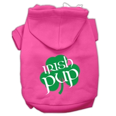 Mirage Pet Products Irish Pup Screen Print Pet Hoodies Bright Pink Size XXXL (20)