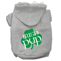 Mirage Pet Products Irish Pup Screen Print Pet Hoodies Grey Size Lg (14)