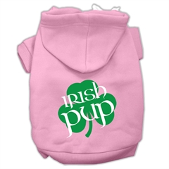Mirage Pet Products Irish Pup Screen Print Pet Hoodies Light Pink Size XXL (18)