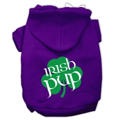 Mirage Pet Products Irish Pup Screen Print Pet Hoodies Purple Size XXXL (20)