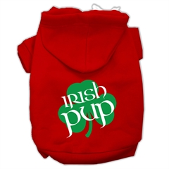 Mirage Pet Products Irish Pup Screen Print Pet Hoodies Red Size XXL (18)