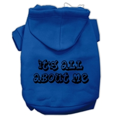 Mirage Pet Products It's All About Me Screen Print Pet Hoodies Blue Size XXL (18)