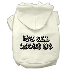 Mirage Pet Products It's All About Me Screen Print Pet Hoodies Cream Size XXXL (20)