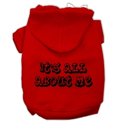 Mirage Pet Products It's All About Me Screen Print Pet Hoodies Red Size XL (16)