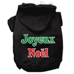 Mirage Pet Products Joyeux Noel Screen Print Pet Hoodies Black M (12)