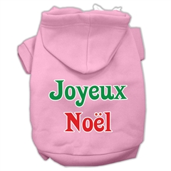 Mirage Pet Products Joyeux Noel Screen Print Pet Hoodies Light Pink XL (16)
