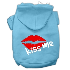 Mirage Pet Products Kiss Me Screen Print Pet Hoodies Baby Blue Size XS (8)