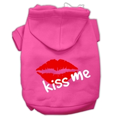 Mirage Pet Products Kiss Me Screen Print Pet Hoodies Bright Pink Size XL (16)