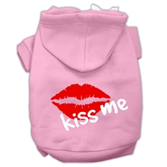 Mirage Pet Products Kiss Me Screen Print Pet Hoodies Light Pink Size XL (16)