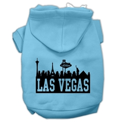 Mirage Pet Products Las Vegas Skyline Screen Print Pet Hoodies Baby Blue Size XL (16)