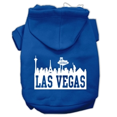 Mirage Pet Products Las Vegas Skyline Screen Print Pet Hoodies Blue Size Med (12)