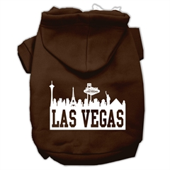 Mirage Pet Products Las Vegas Skyline Screen Print Pet Hoodies Brown Size Sm (10)