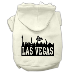 Mirage Pet Products Las Vegas Skyline Screen Print Pet Hoodies Cream Size XL (16)