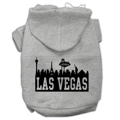 Mirage Pet Products Las Vegas Skyline Screen Print Pet Hoodies Grey Size XXXL (20)