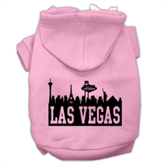 Mirage Pet Products Las Vegas Skyline Screen Print Pet Hoodies Light Pink Size Lg (14)