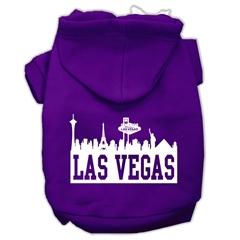 Mirage Pet Products Las Vegas Skyline Screen Print Pet Hoodies Purple Size Sm (10)