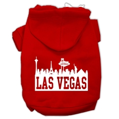 Mirage Pet Products Las Vegas Skyline Screen Print Pet Hoodies Red Size XXXL (20)