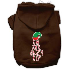 Mirage Pet Products Lazy Elf Screen Print Pet Hoodie Brown XS (8)