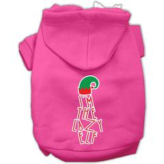 Mirage Pet Products Lazy Elf Screen Print Pet Hoodie Bright Pink XS (8)