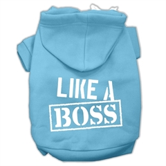 Mirage Pet Products Like a Boss Screen Print Pet Hoodies Baby Blue Size Sm (10)