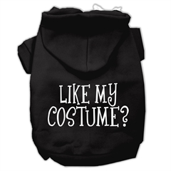 Mirage Pet Products Like my costume? Screen Print Pet Hoodies Black Size S (10)