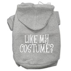 Mirage Pet Products Like my costume? Screen Print Pet Hoodies Grey Size XS (8)