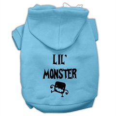 Mirage Pet Products Lil Monster Screen Print Pet Hoodies Baby Blue Size XXL (18)