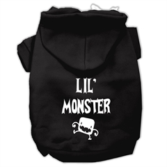 Mirage Pet Products Lil Monster Screen Print Pet Hoodies Black Size XXXL (20)
