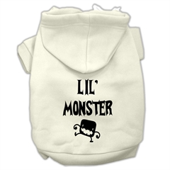 Mirage Pet Products Lil Monster Screen Print Pet Hoodies Cream Size XS (8)