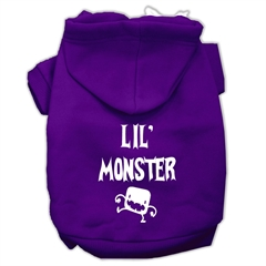 Mirage Pet Products Lil Monster Screen Print Pet Hoodies Purple Size XL (16)