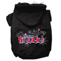 Mirage Pet Products Little Firecracker Screen Print Pet Hoodies Black XL (16)