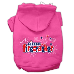 Mirage Pet Products Little Firecracker Screen Print Pet Hoodies Bright Pink Size L (14)