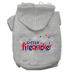 Mirage Pet Products Little Firecracker Screen Print Pet Hoodies Grey L (14)