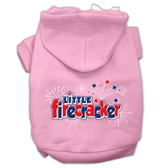 Mirage Pet Products Little Firecracker Screen Print Pet Hoodies Light Pink Size XL (16)